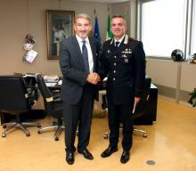 Presidente Cattaneo con il Colonnello De Marchis
